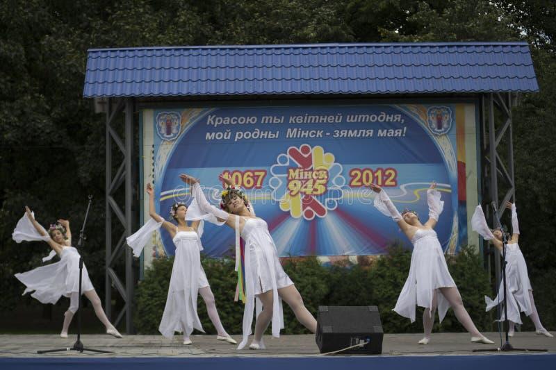 De Vakantie van de Stad van Minsk: 945 jaar, 9 September 2012 royalty-vrije stock fotografie