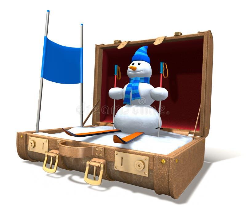De Vakantie van de winter royalty-vrije illustratie