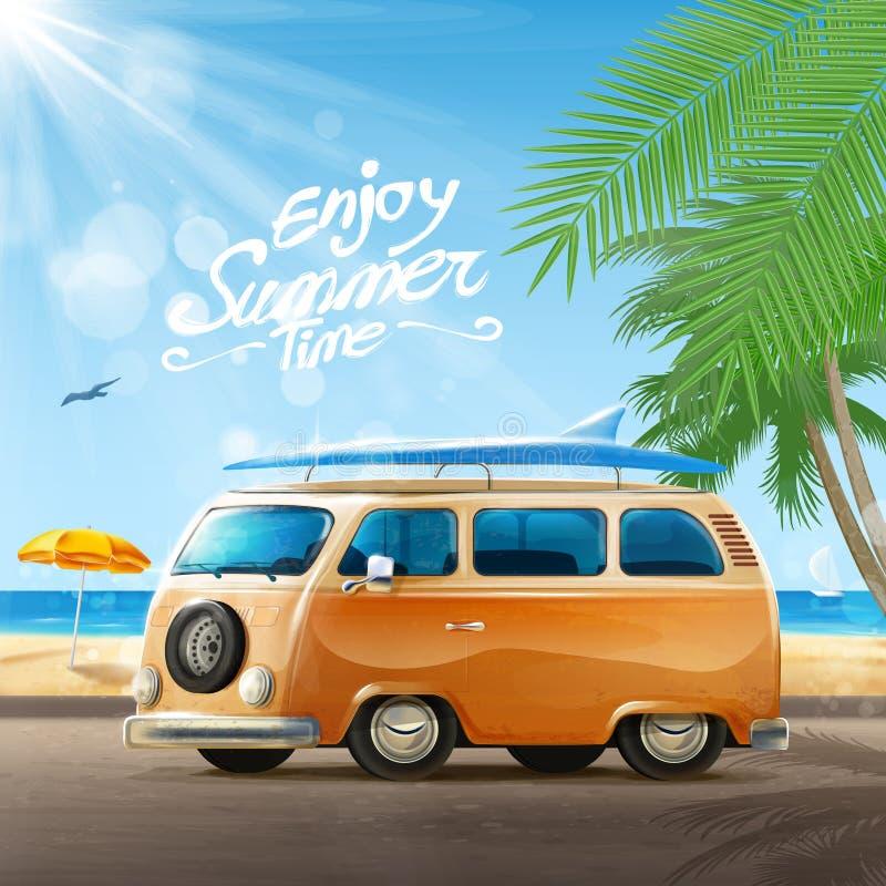 De vakantie van de zomer royalty-vrije illustratie