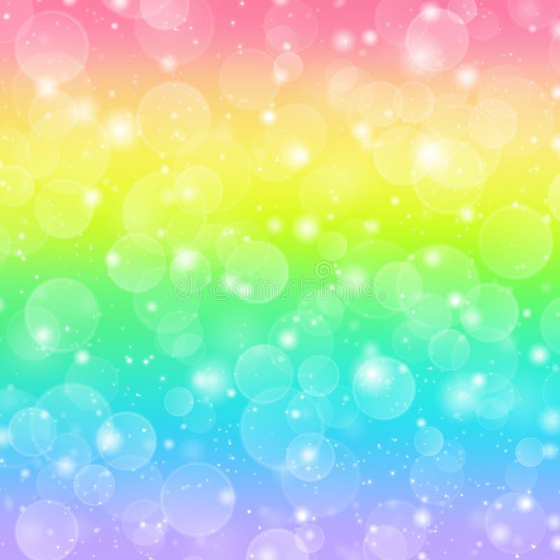 De vakantieachtergrond van de regenboog royalty-vrije illustratie