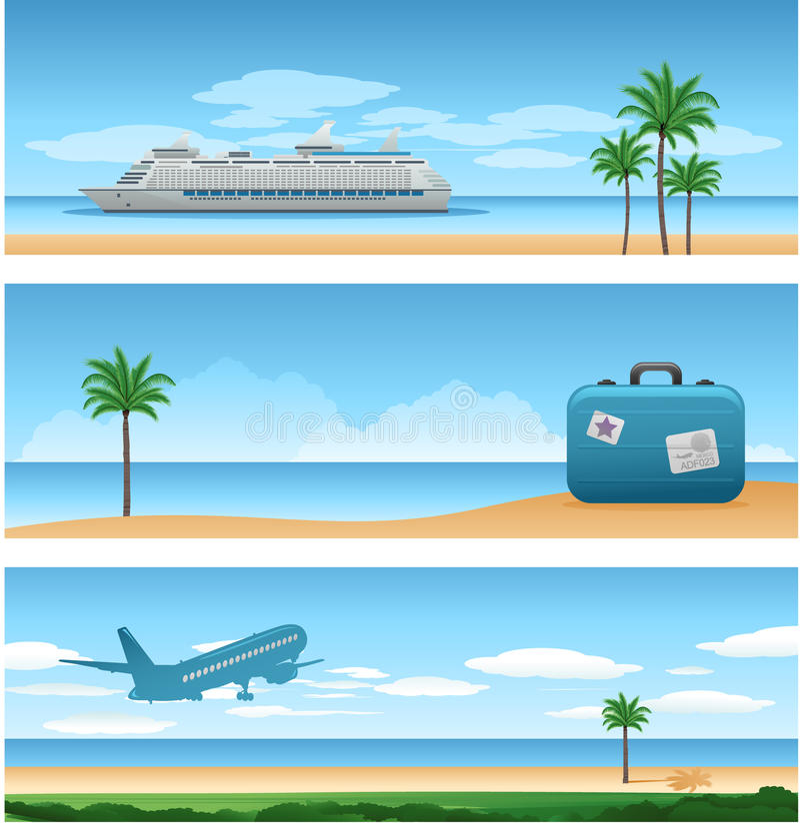 De vakantieachtergrond van de reis