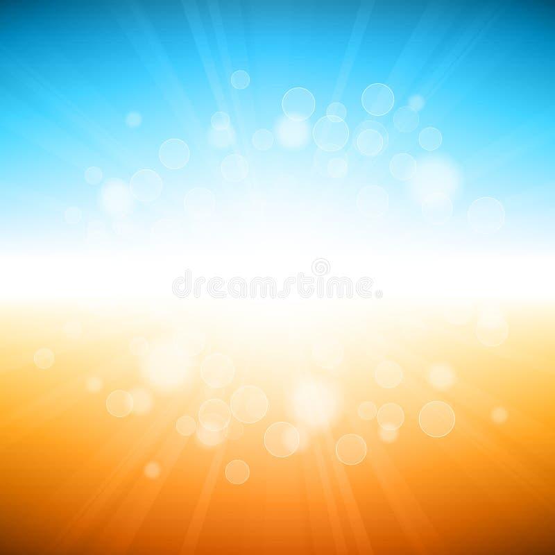 De Vakantieachtergrond van de strandzomer vector illustratie