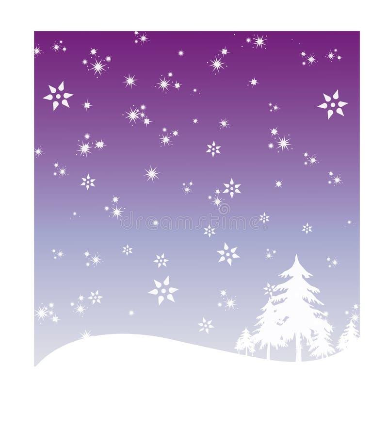De vakantieachtergrond van de winter