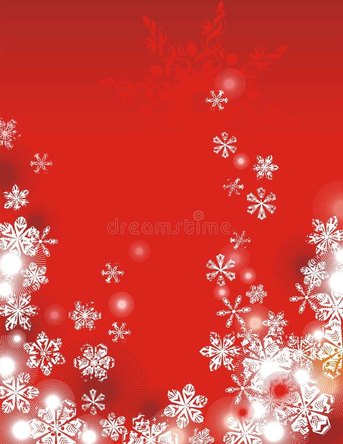 De vakantieachtergrond van de winter stock illustratie