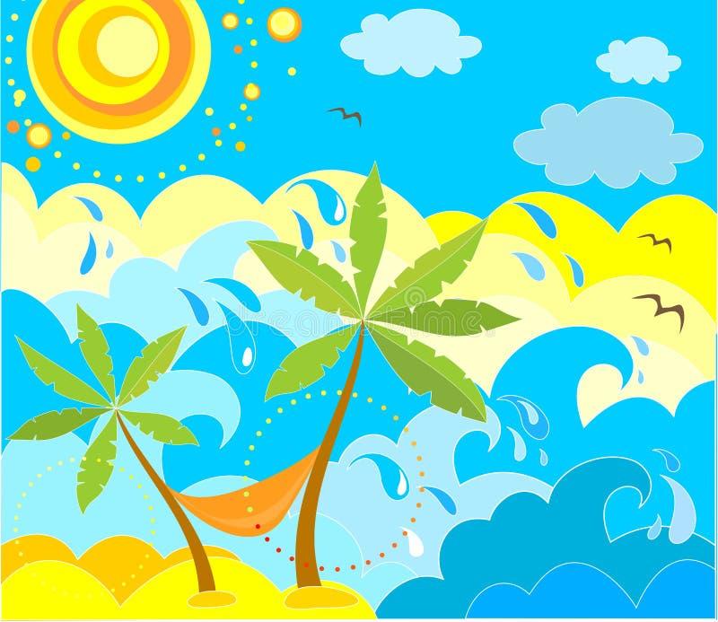De vakantieachtergrond van de zomer royalty-vrije illustratie