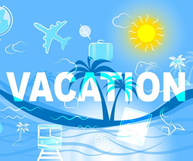 De vakantiereis wijst Reizen op Ontsnapping en Vacational royalty-vrije illustratie