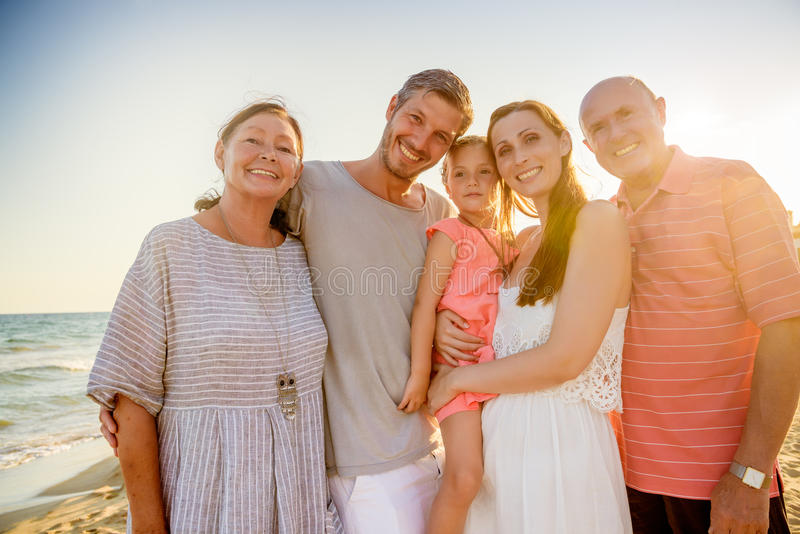 De vakanties van de grootouderszomer stock foto
