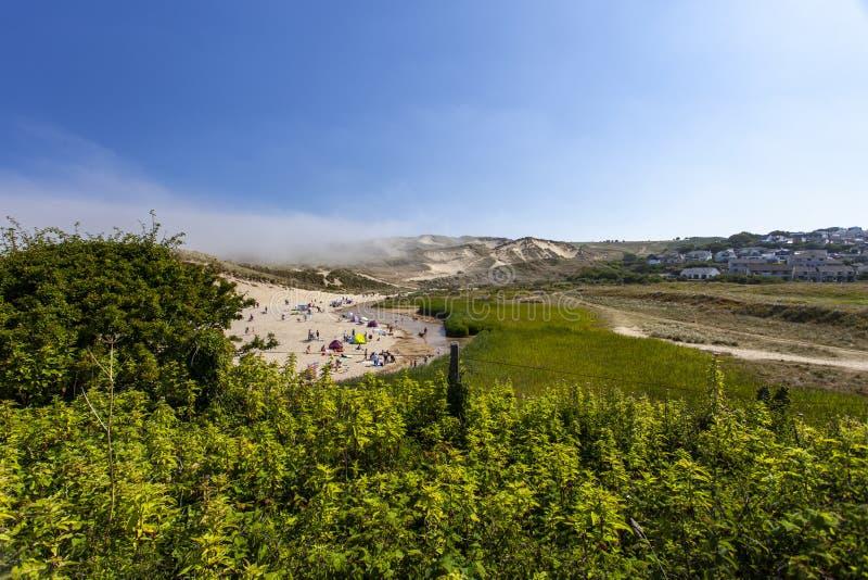 De vakantietoevlucht van de Holywellbaai op het goede weekend stock foto's