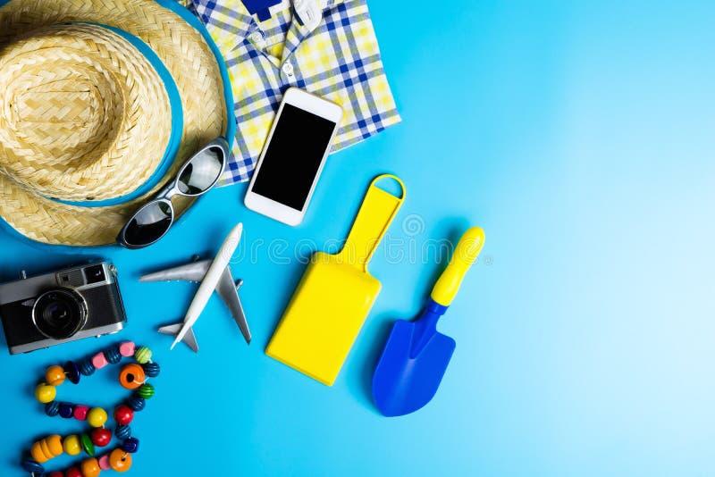 De vakantievoorwerpen van het de zomerstrand royalty-vrije stock afbeelding
