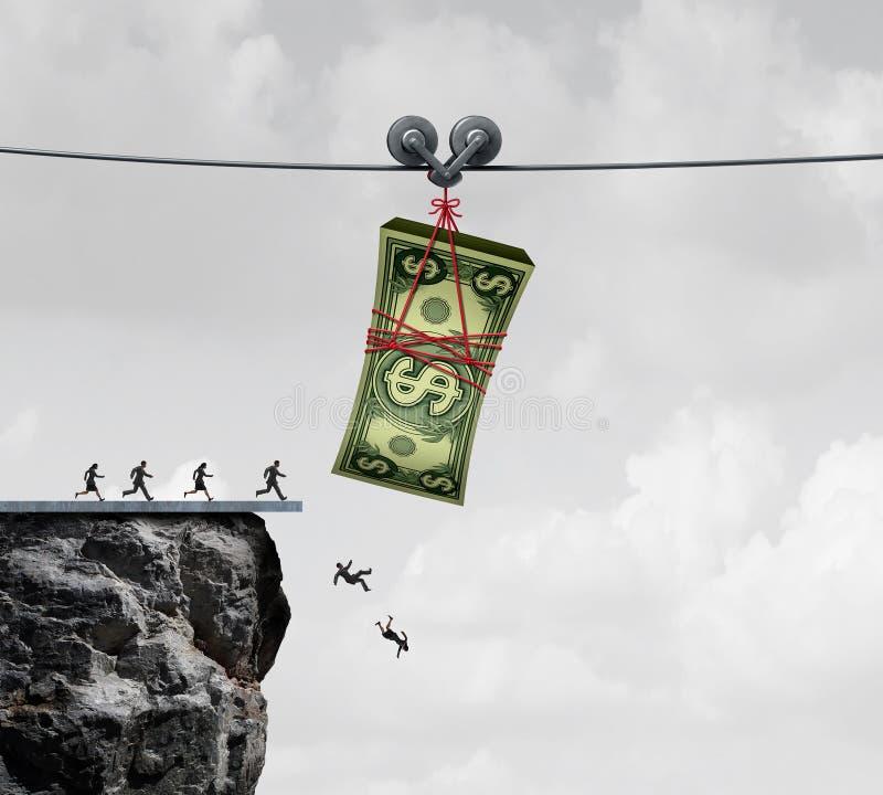 De val van het geld vector illustratie