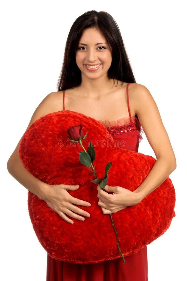 De valentijnskaart nam toe stock afbeelding