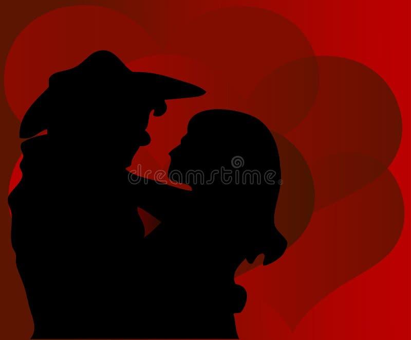 De Valentijnskaart van de cowboy royalty-vrije illustratie