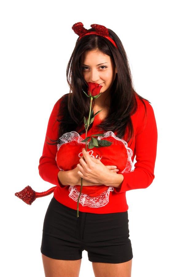 De Valentijnskaart van de Vrouw van de duivel royalty-vrije stock fotografie