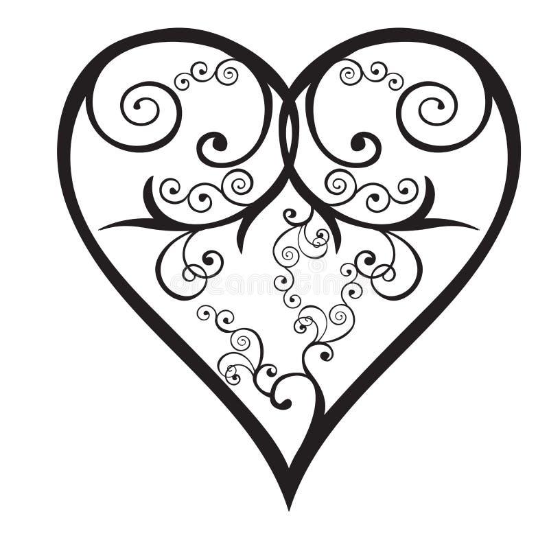 De valentijnskaart van het hart vector illustratie