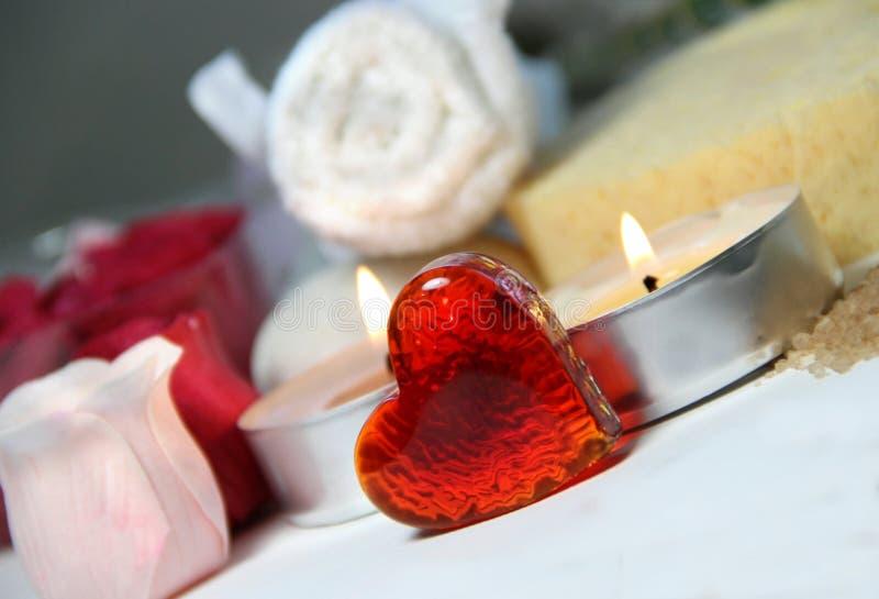 De Valentijnskaart van Wellness stock afbeeldingen
