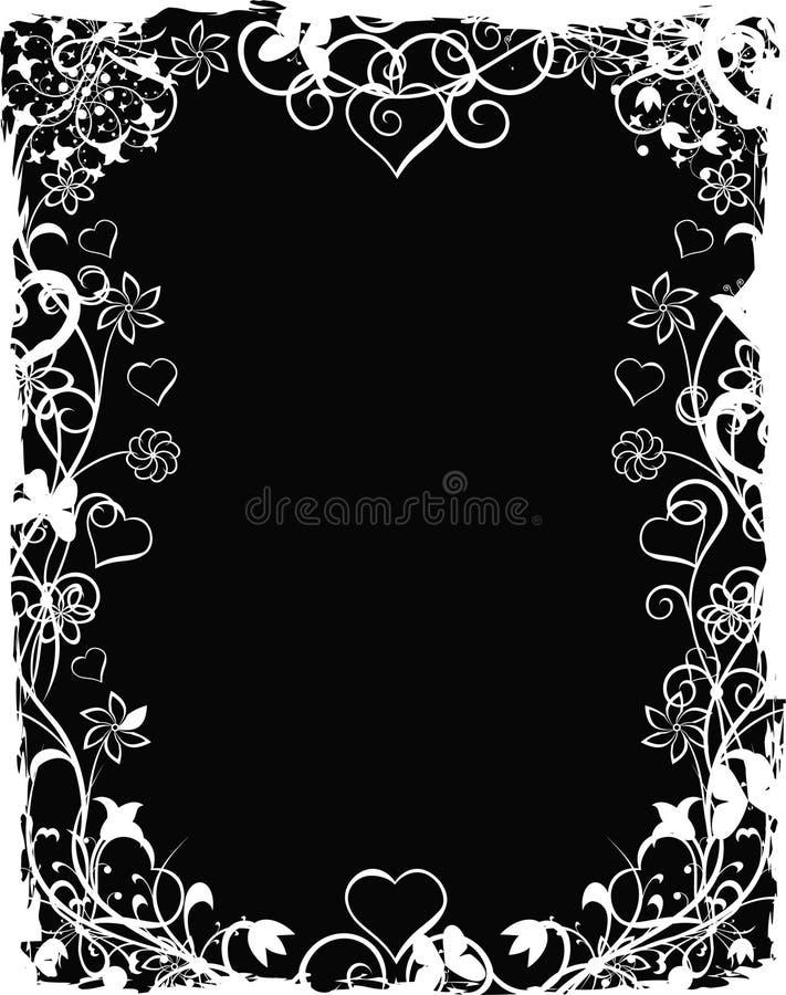 De valentijnskaartachtergrond van Grunge, vector royalty-vrije illustratie