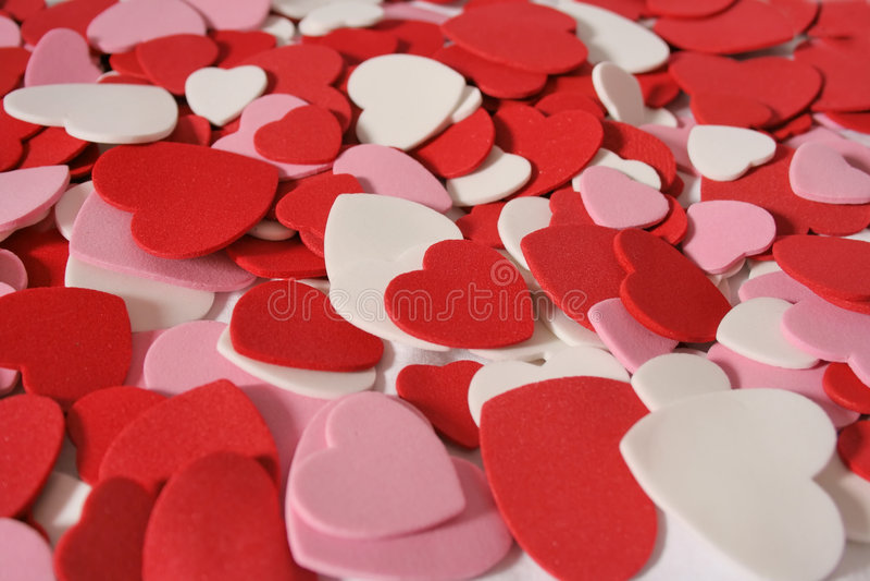 De valentijnskaartachtergrond van het hart royalty-vrije stock foto