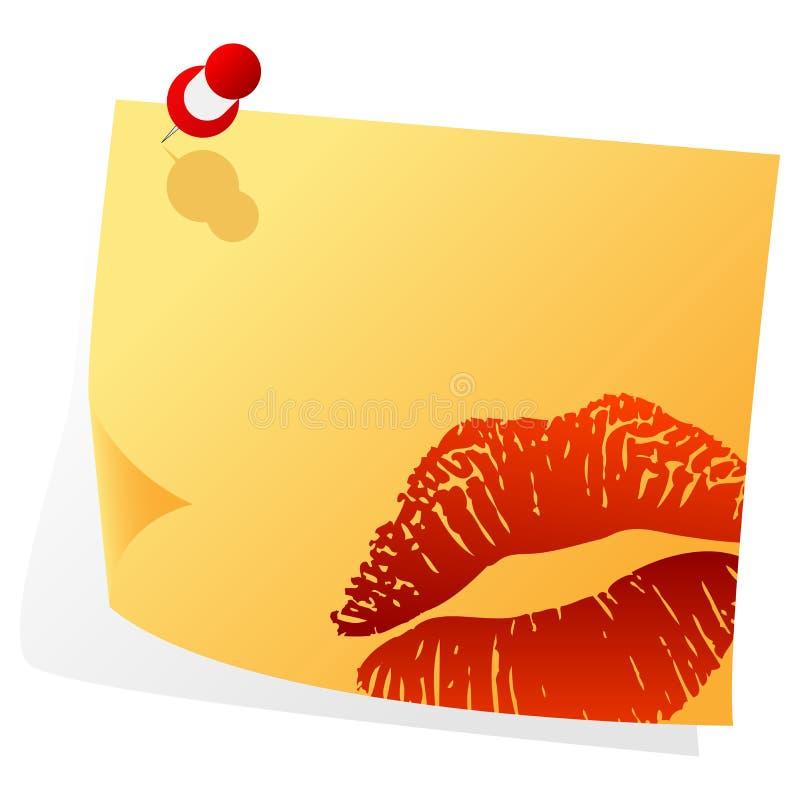 De valentijnskaarten nemen van nota royalty-vrije illustratie