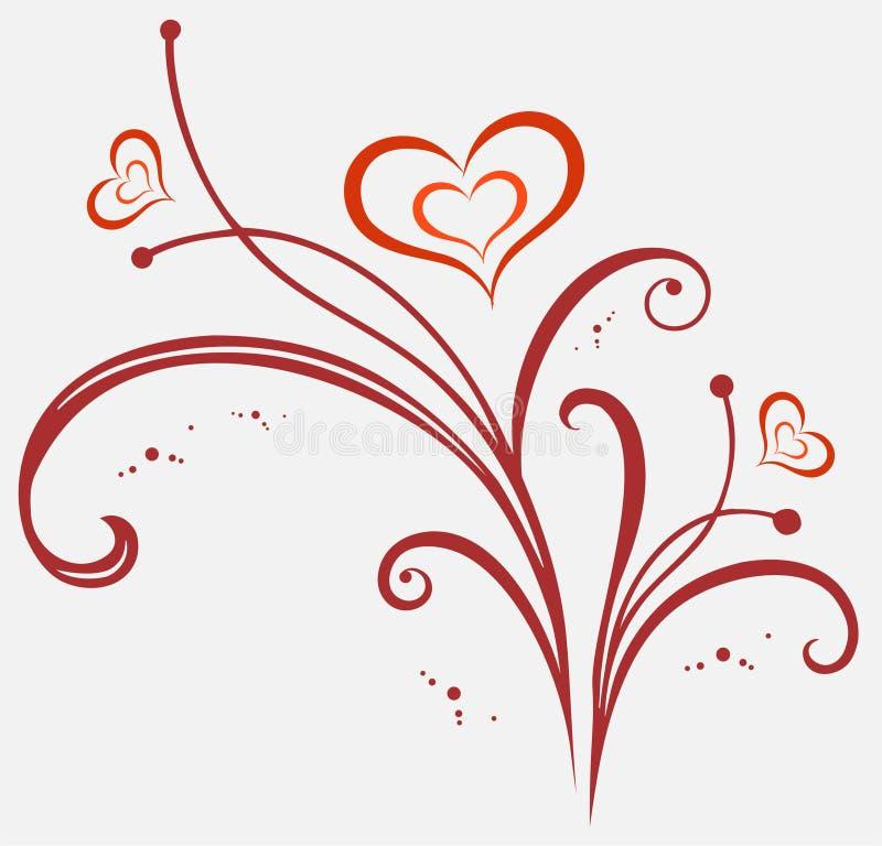 De valentijnskaarten sieren stock illustratie