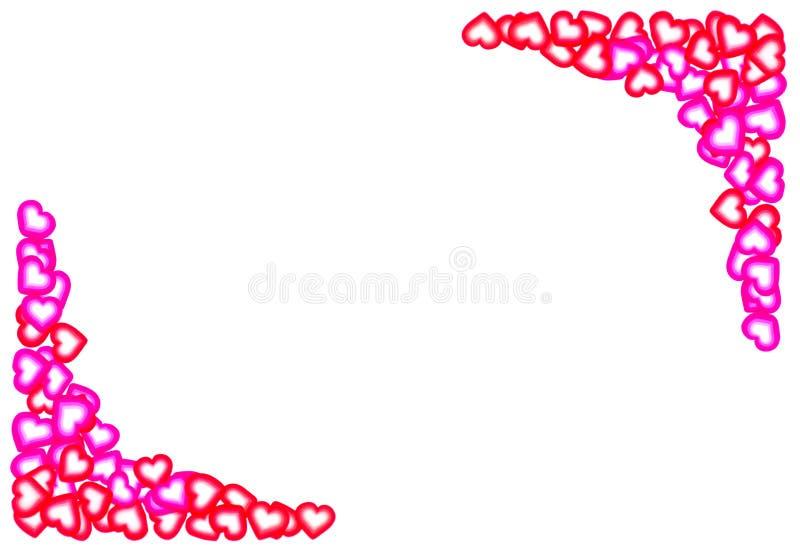 De Valentijnskaarten van het Frame van het hart royalty-vrije stock afbeelding