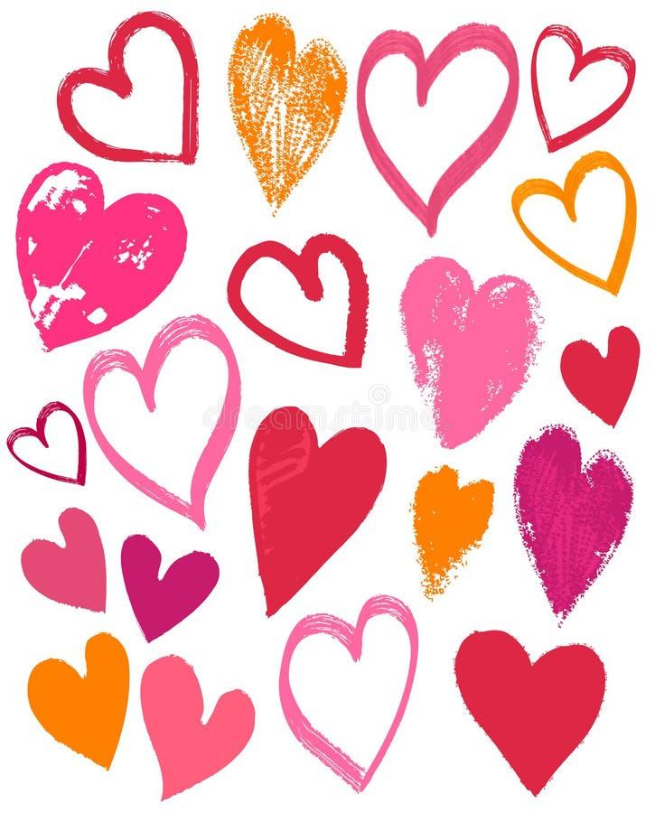 De valentijnskaartenhart van de handtekening, vector vector illustratie