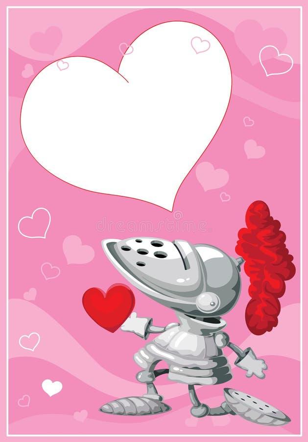 De valentijnskaartenkaart van de ridder
