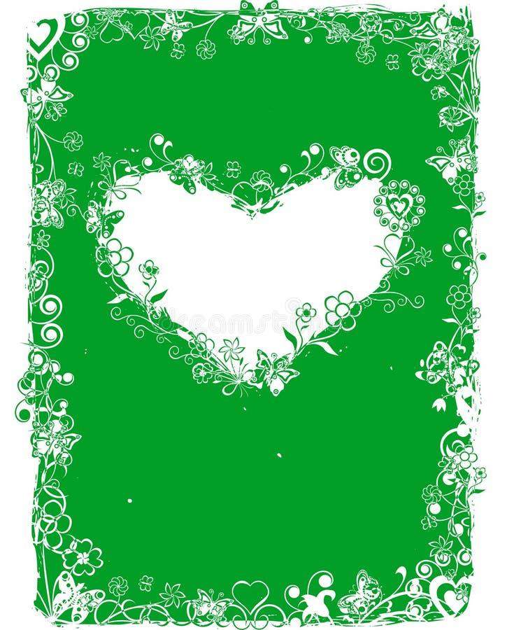 De valentijnskaartframe van Grunge, vector stock fotografie