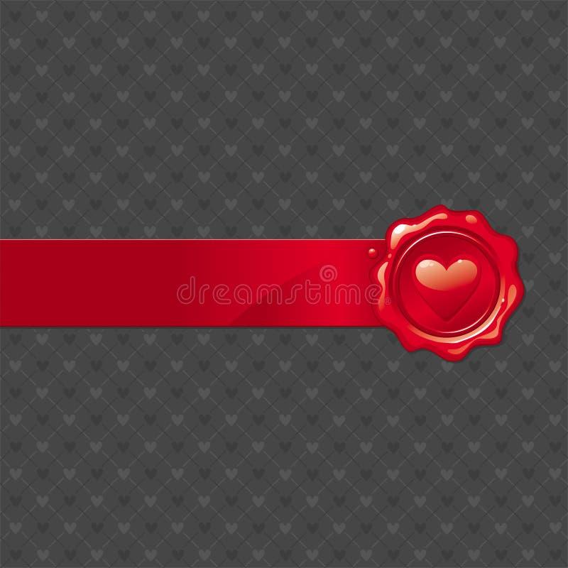 De valentijnskaartverbinding van de was vector illustratie