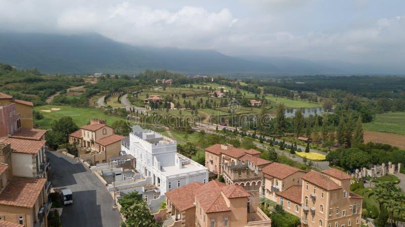 De Vallei Khao Yai van Toscanië, het is een Italiaanse stijltoevlucht in Nakho royalty-vrije stock afbeelding