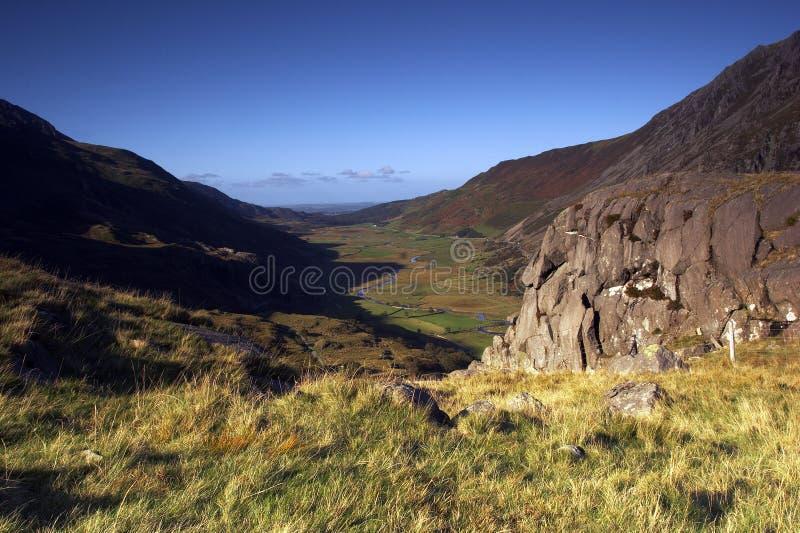 De vallei Ogwen stock fotografie