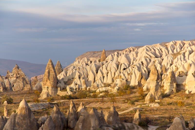 De Vallei van Cappadocian in Centraal Anatolië, Turkije stock afbeelding