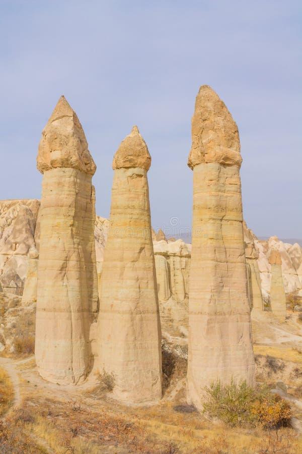 De vallei van de Cappadokialiefde stock foto's