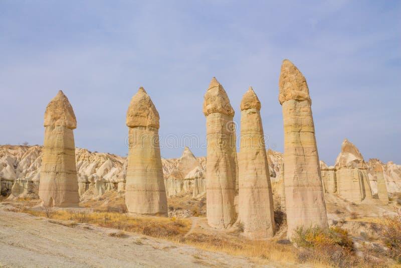 De vallei van de Cappadokialiefde royalty-vrije stock afbeelding
