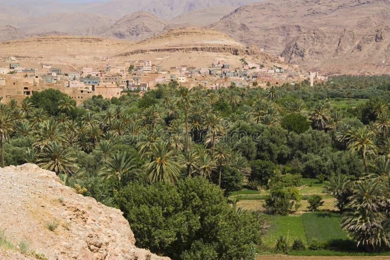 De vallei van Dades, Marokko. stock afbeelding