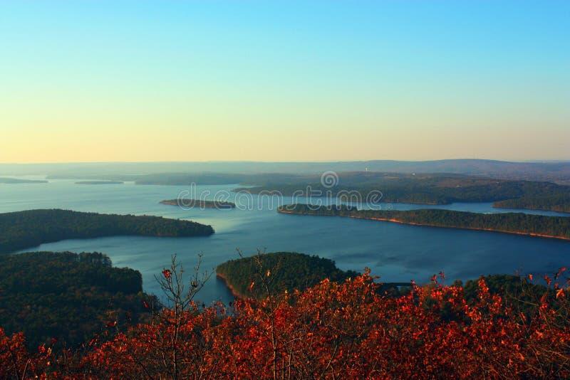 De Vallei van de Rivier van Arkansas stock foto's