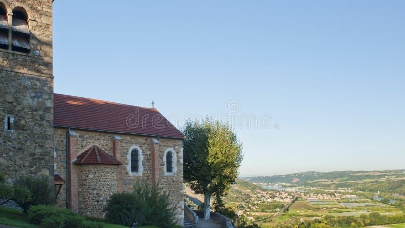 De Vallei van de Rivier van de Rhône dichtbij Wenen stock fotografie