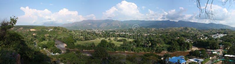 De Vallei van de Rivier van Sumapaz stock foto's