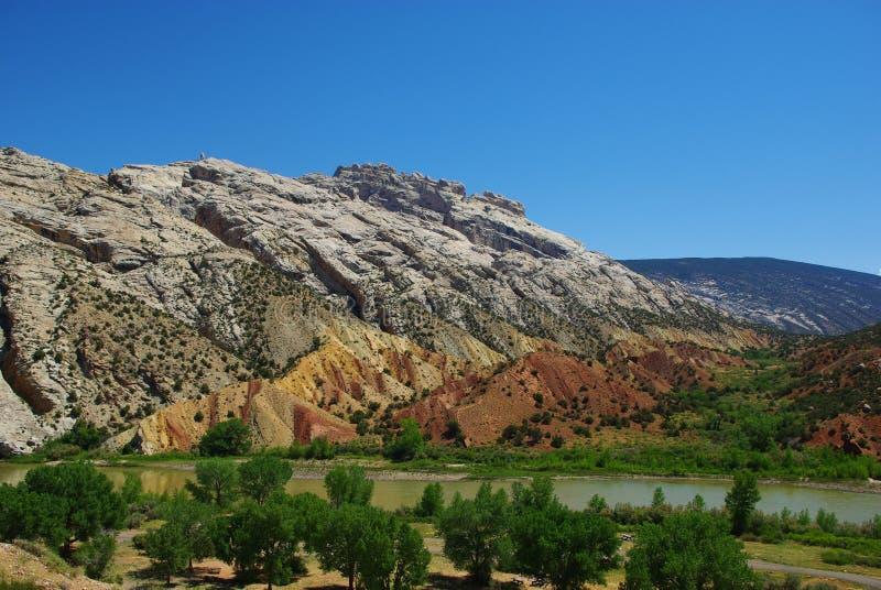 De vallei van de rivier, Wyoming stock fotografie