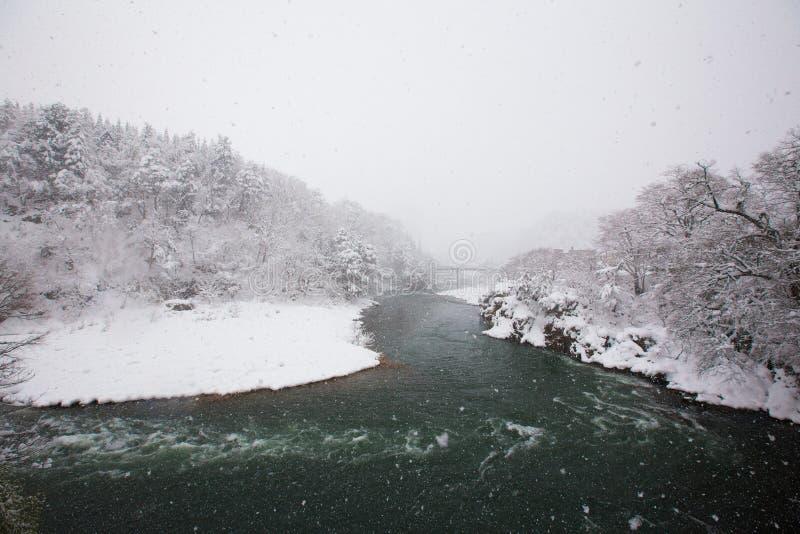 De Vallei van de Shogawarivier stock afbeelding
