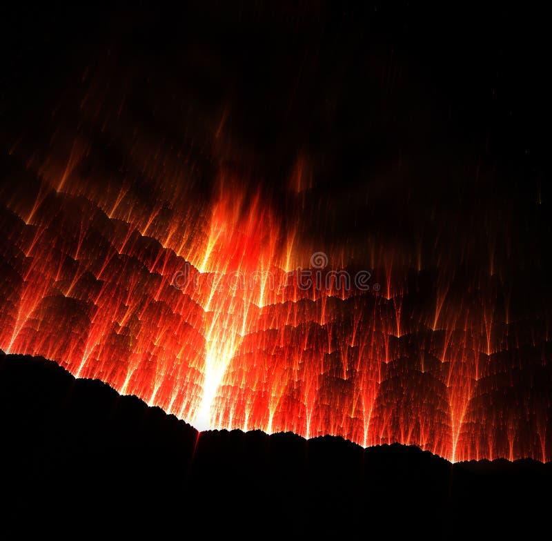 De Vallei van de uitbarsting vector illustratie