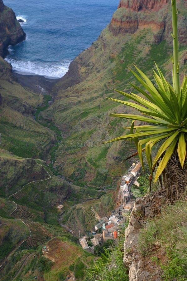 De vallei van de wildernis in Kaapverdië royalty-vrije stock afbeelding