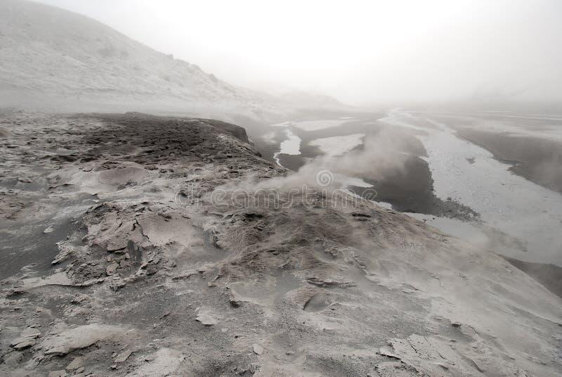 In de vallei van Eyjafjallajokull in IJsland royalty-vrije stock fotografie