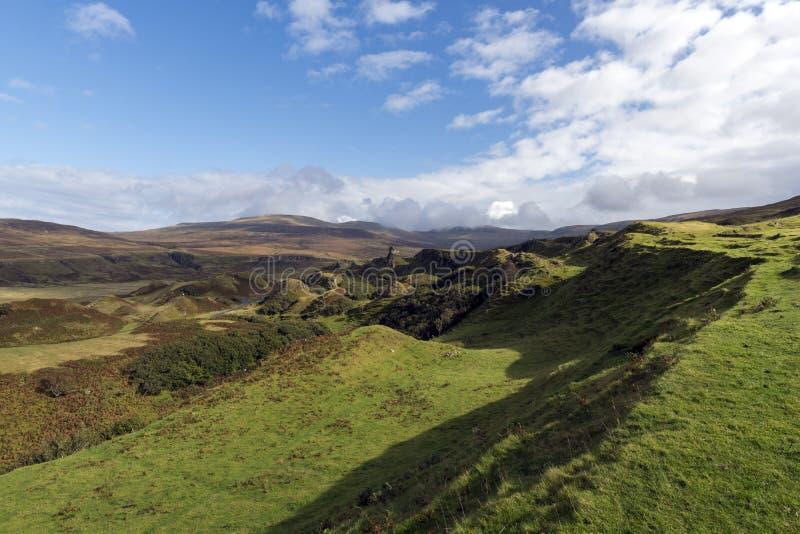 De vallei van de Fairy Glen op het eiland Skye royalty-vrije stock foto's