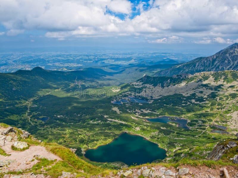 De vallei van Gasienicowa stock afbeeldingen