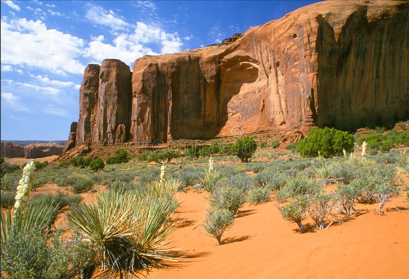De Vallei van het monument stock foto
