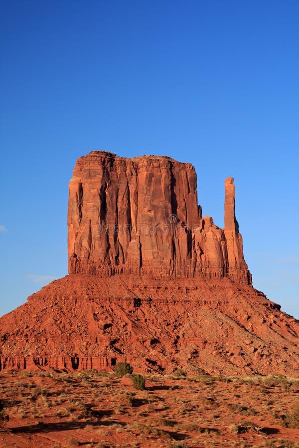 De vallei van het monument bij zonsondergang royalty-vrije stock afbeeldingen