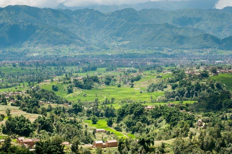 De vallei van Katmandu stock afbeeldingen