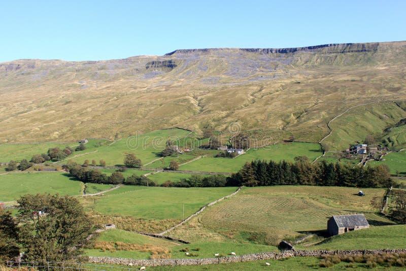 De vallei van Mallerstang, Cumbria, Engeland, het UK. stock foto
