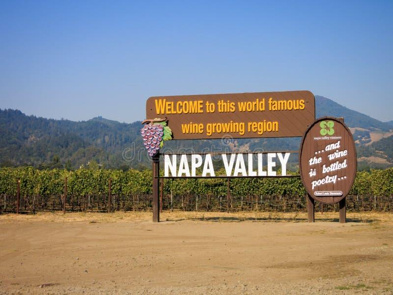 De Vallei van Napa royalty-vrije stock fotografie