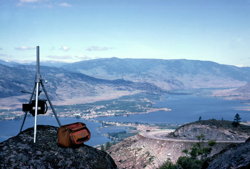 De Vallei van Okanagan stock afbeeldingen